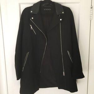 Zara black overcoat